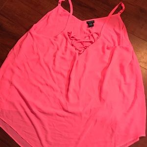 Neon pink swing cami